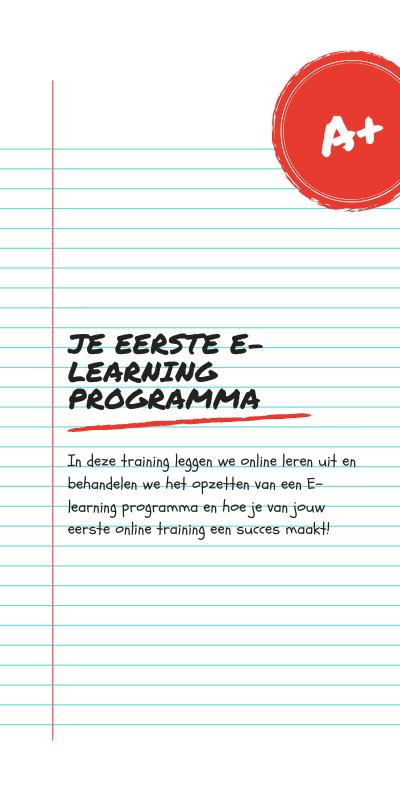 Training: eerste e-learing programma